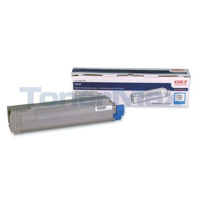 OKIDATA C830 TONER CARTRIDGE CYAN